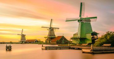 Los molinos de viento en Holanda
